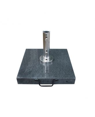 50kg Dark Grey Granite Base with Pullout Handle and Wheels