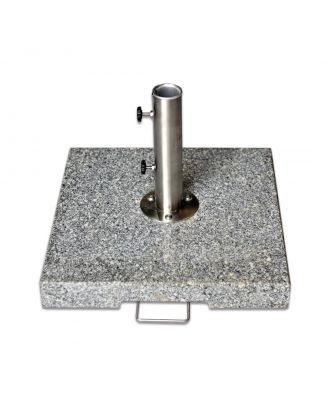 50kg Grey Granite Parasol Base with Pullout Handle and Wheels