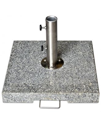 70kg Grey Granite Parasol Base with Pullout Handle and Wheels