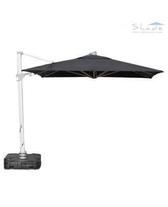 square Cantilever Parasol With LED Lights - normal position